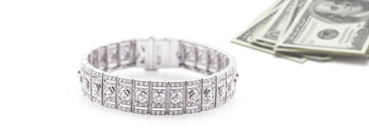 Diamond and White Gold Bracelet