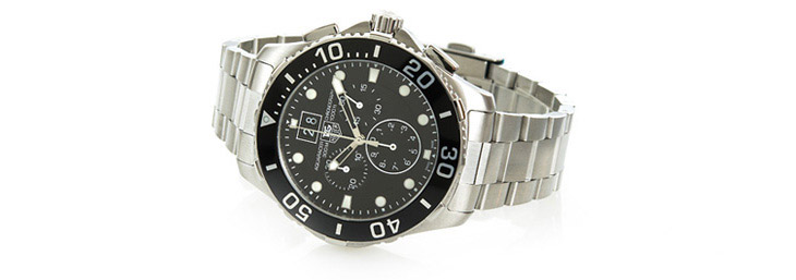 TAG Heuer Aquaracer Chronograph with Black Dial