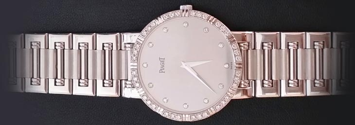 Rose gold Piaget with diamond dial