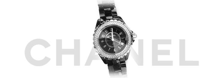 black and white chanel watch