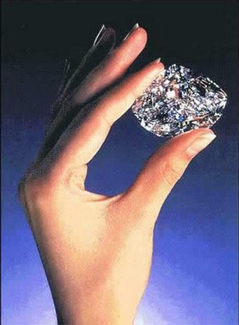 the Centenary Diamond hand-cut into an egg-shaped gem