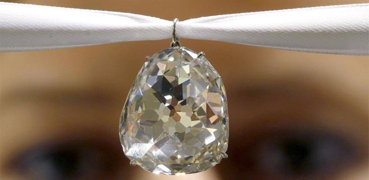 Sancy Diamond: Modified Brilliant Cut, Shield Shaped, 55.23 carats