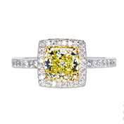 GIA 1.28 CT Radiant Cut Ring