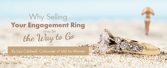 Ring on beach plus author
