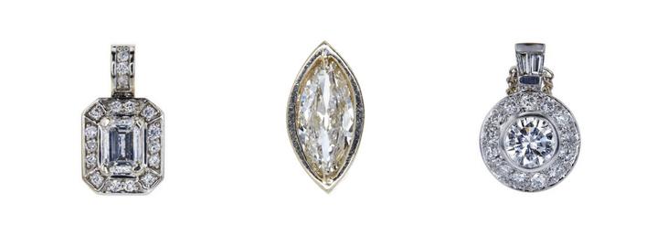 diamond Pendant Trio