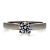 GIA 0.52 CT Round Cut Solitaire Ring