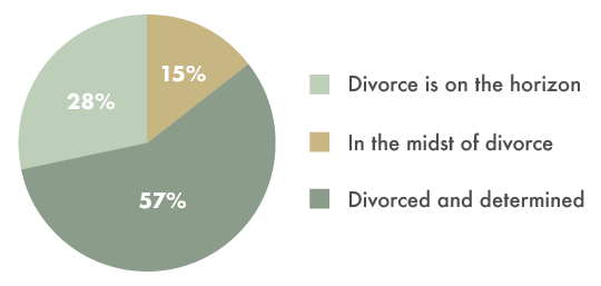 Worthy.com Divorce Financial Study - stage of divorce